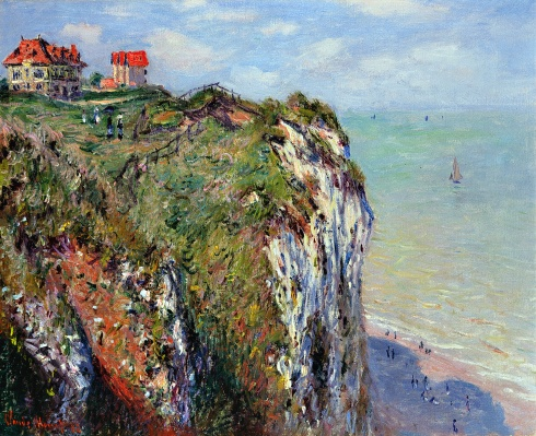 Claude Monet Paintings Cliff at Dieppe jpg