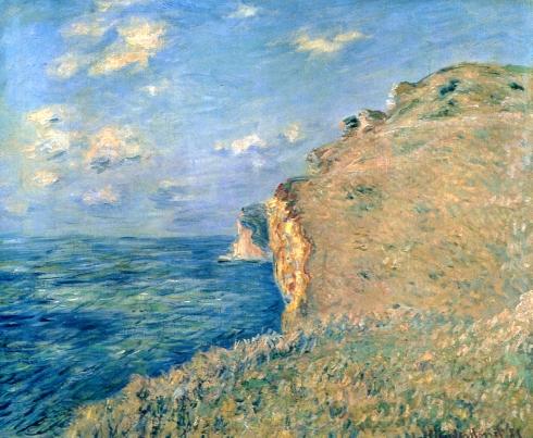 Claude Monet Paintings Cliff at Fecamp jpg