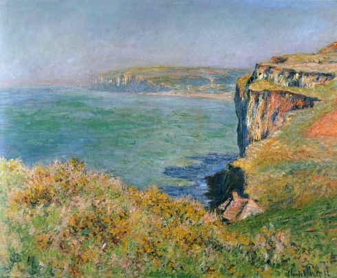 Claude Monet Paintings Cliff at Grainval jpg