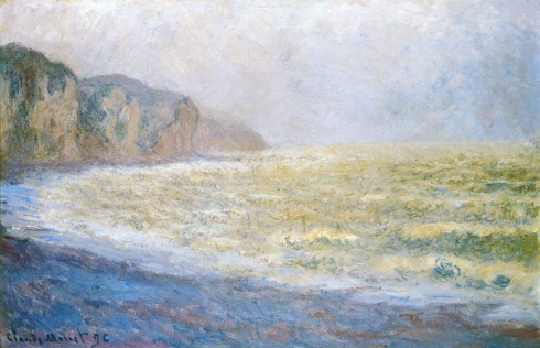 Claude Monet Paintings Cliff at Pourville jpg
