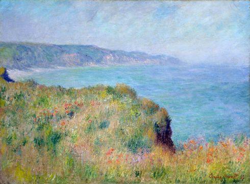 Claude Monet Paintings Cliff near Pourville jpg