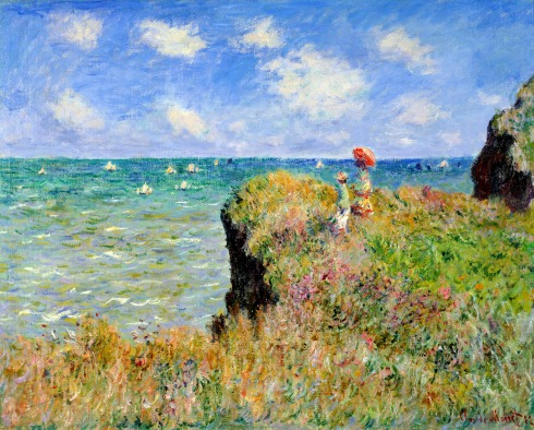 Claude Monet Paintings Clifftop Walk at Pourville jpg