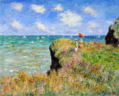 Claude Monet Paintings Clifftop Walk at Pourville jpg