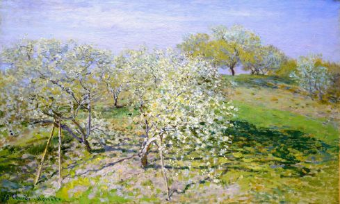 Claude Monet Paintings Apple Trees in Bloom jpg