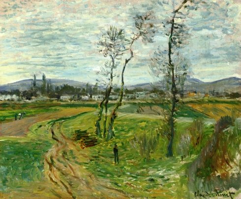 Claude Monet Paintings Field at Gennevilliers jpg