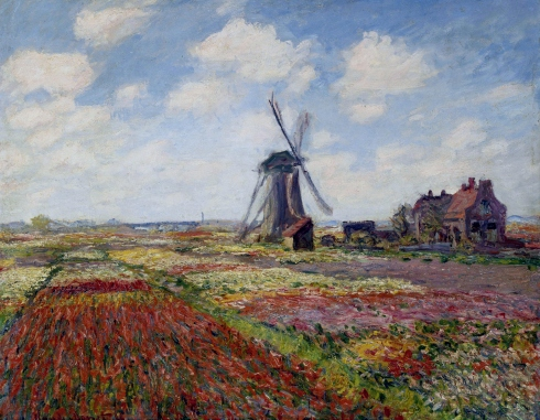 Claude Monet Paintings Fields of Tulip With The Rijnsburg Windmill jpg