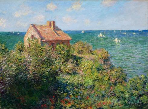 Claude Monet Paintings Fisherman s Cottage at Varengeville jpg