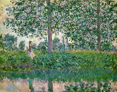 Claude Monet Paintings Fishing on the River Epte jpg