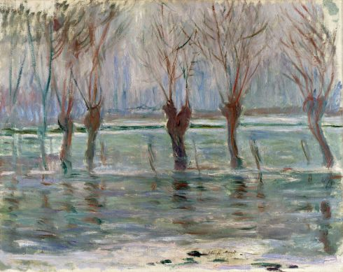Claude Monet Paintings Flood Waters jpg