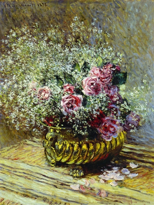 Claude Monet Paintings Flowers in a Pot jpg
