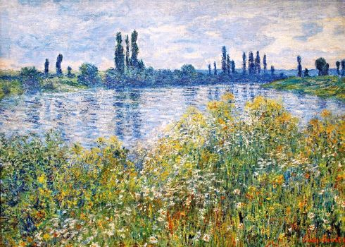 Claude Monet Paintings Flowers on the Banks of Seine near Vetheuil jpg