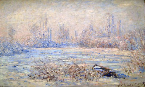 Claude Monet Paintings Frost near Vetheuil jpg