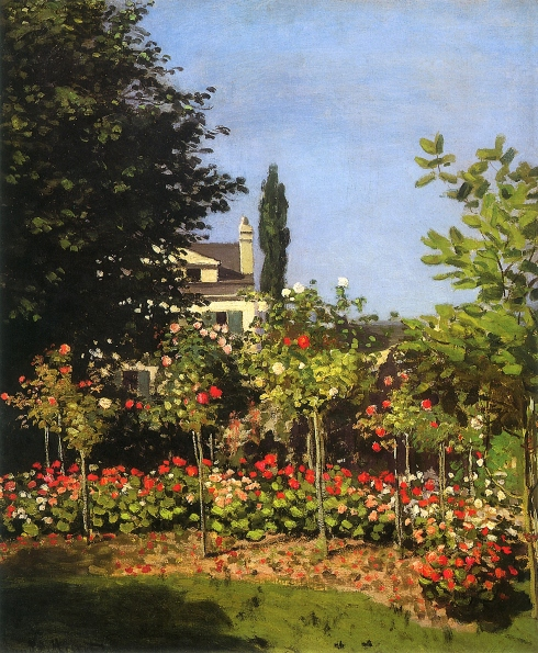 Claude Monet Paintings Garden in Bloom at Sainte Addresse jpg