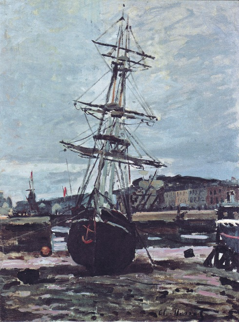 Claude Monet Paintings Gestrandetes Boot in Fecamp jpg
