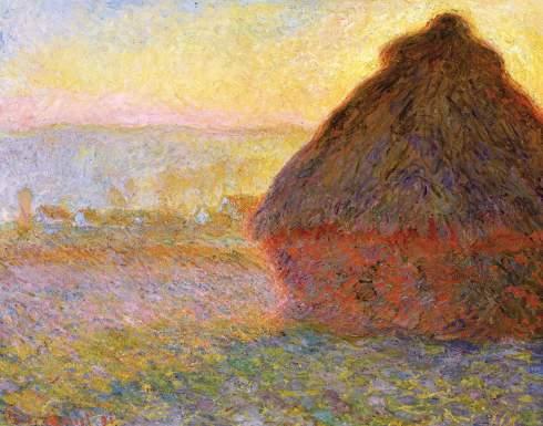 Claude Monet Paintings Grainstack at Sunset jpg