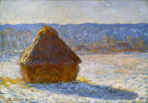 Claude Monet Paintings Grainstack in the Morning Snow Effect jpg