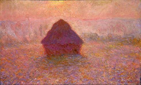 Claude Monet Paintings Grainstack Sun in the Mist jpg