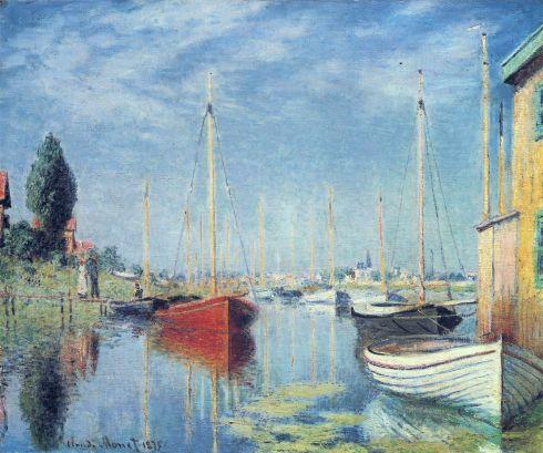 Claude Monet Paintings Argenteuil Yachts jpg