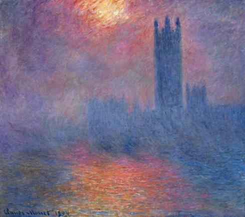 Claude Monet Paintings Houses of Parliament London Sun Breaking Through jpg