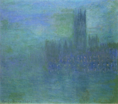 Claude Monet Paintings Houses of Parlilament Fog Effect jpg