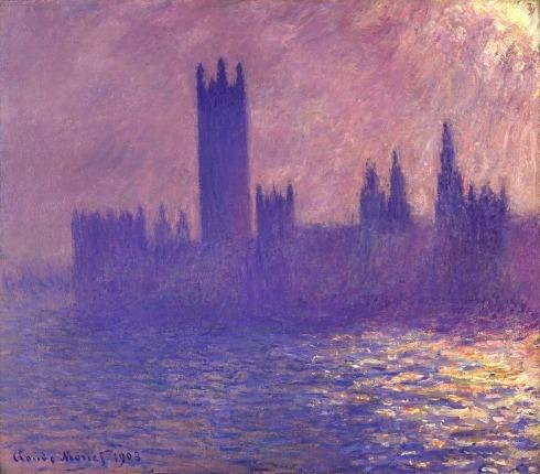 Claude Monet Paintings Houses of Parlilament Sunlight Effect jpg