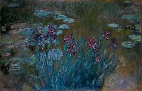 Claude Monet Paintings Irises and Water Lilies jpg