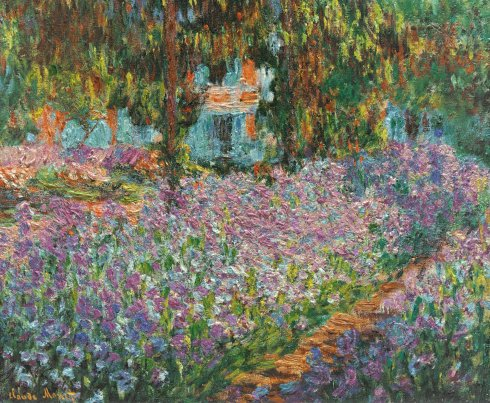 Claude Monet Paintings Irises in Monet s Garden jpg