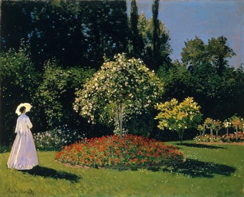 Claude Monet Paintings Jeanne Marguerite Lecadre in the Garden jpg