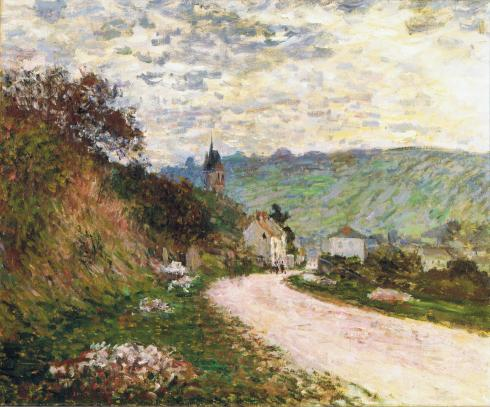 Claude Monet Paintings La Route a Vetheuil jpg