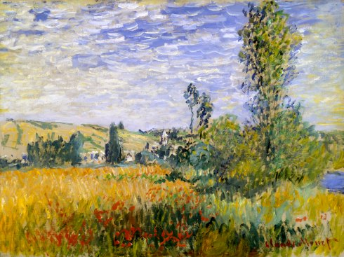 Claude Monet Paintings Landscape at Vetheuil jpg