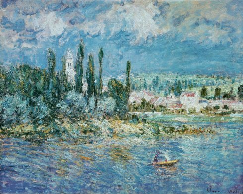 Claude Monet Paintings Landscape with Thunderstorm jpg