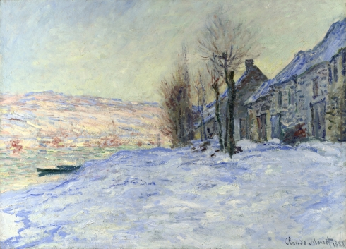 Claude Monet Paintings Lavacourt Sun and Snow jpg