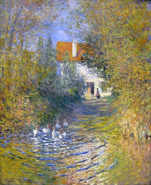Claude Monet Paintings Les oies dans le ruisseau jpg