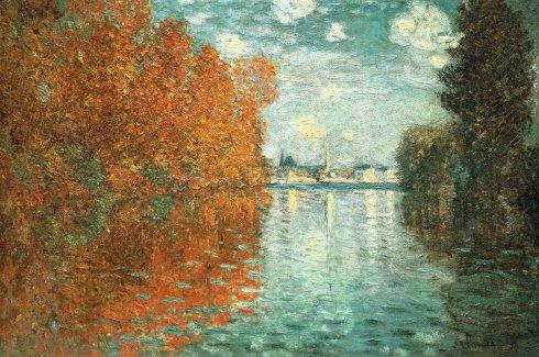 Claude Monet Paintings Autumn Effect at Argenteuil jpg