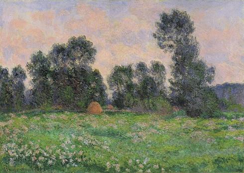 Claude Monet Paintings Meadow in Giverny jpg