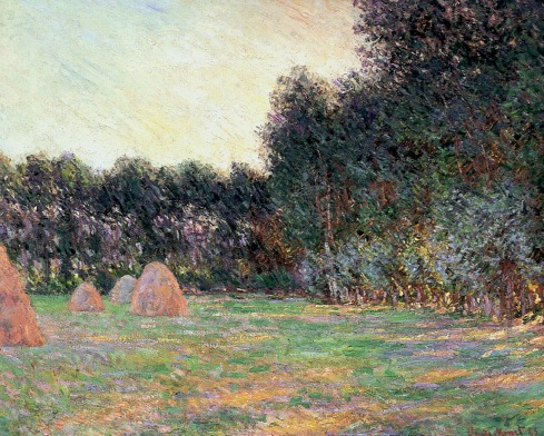 Claude Monet Paintings Meadow with Haystacks near Giverny jpg