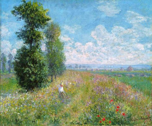 Claude Monet Paintings Meadow with Poplars jpg