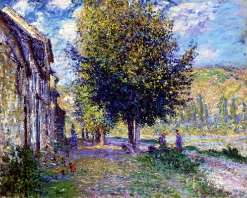 Claude Monet Paintings Banks of the Seine at Lavacourt jpg