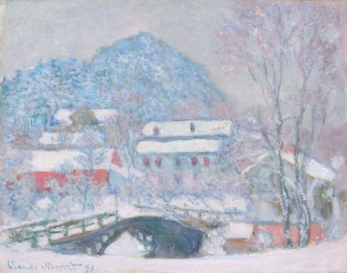 Claude Monet Paintings Norway Sandviken Village in the Snow jpg