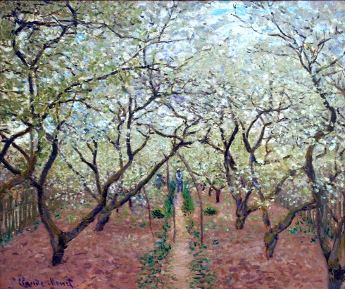 Claude Monet Paintings Orchard in Bloom jpg