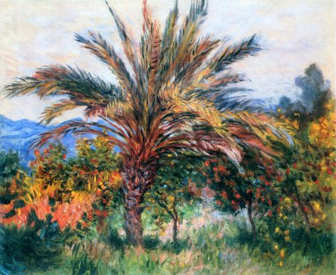 Claude Monet Paintings Palm Tree at Bordighera jpg