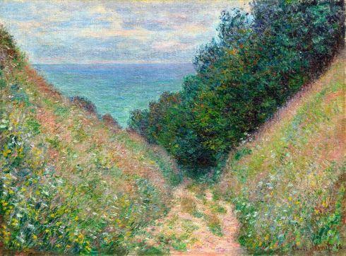 Claude Monet Paintings Path at La Cavee Pourville jpg