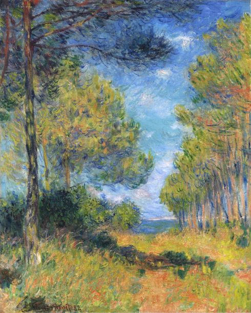 Claude Monet Paintings Path at Varengeville jpg