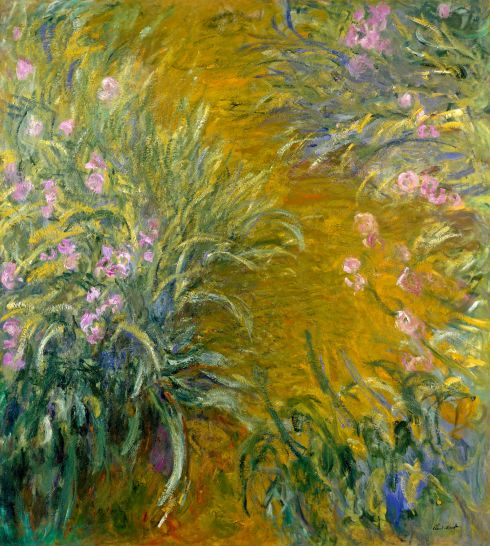 Claude Monet Paintings Path through the Irises jpg