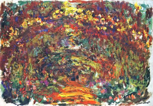 Claude Monet Paintings Path under the Rose Trellises Giverny jpg