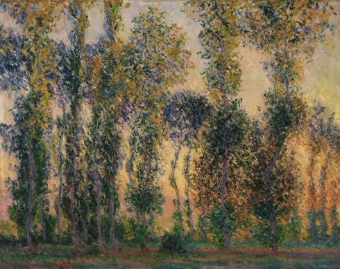 Claude Monet Paintings Poplars at Giverny jpg