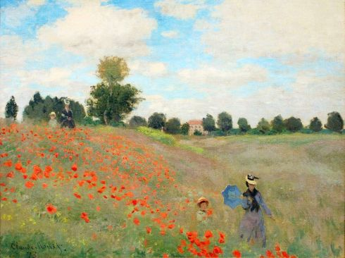Claude Monet Paintings Poppies Near Argenteuil jpg