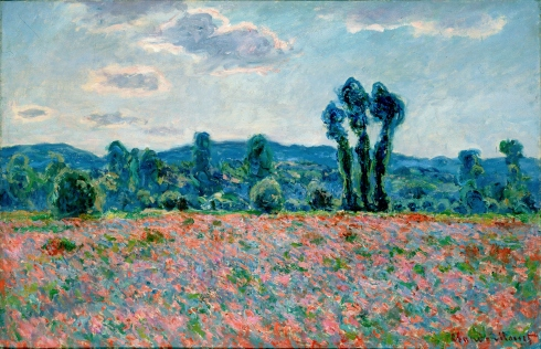 Claude Monet Paintings Poppy Field in Giverny jpg
