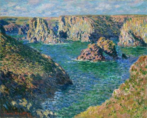 Claude Monet Paintings Port Donnant Belle Ile jpg