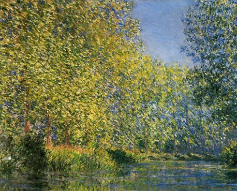 Claude Monet Paintings Bend in the River Epte jpg